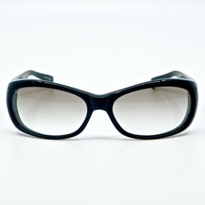 OLIVER PEOPLES~phoebe~OVAL SUNGLASSES~BLACK/GRAY